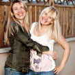 Two happy girls — Stockfoto
