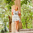 Beautiful blond woman in the park — Lizenzfreies Foto