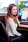 Trabalhador de escritório — Foto Stock