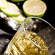 Glass of alcohol drink — Stock Photo