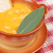 Постер, плакат: Cream of squash soup in a casserole pot