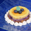 Stock Photo: Blueberry cheese cake