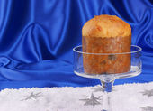 Typical italian Christmas Panettone — Stock Photo