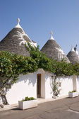 Trulli houses in Alberobello (Apulia) — Stock Photo