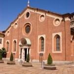 Front facade of Santa Maria delle Grazie, Milan — Stock Photo