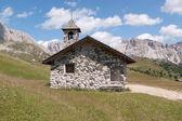 Small alpine church — Stock Photo