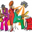 banda de jazz — Vector de stock #7460834