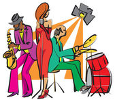 Jazz band — Stock Vector