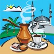 Stock Vector: Turkish coffee