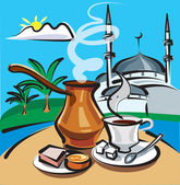 Turkish coffee — Stock Vector