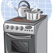 Stock Vector: Electric cooker
