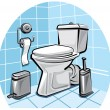Toilet,wc - Stock Vector
