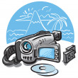 Video camera — Stock Vector #7806411