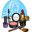 Stock Vector: Cosmetic make up kit