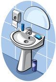 Plumbing a bathroom sink