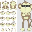 Monkeys — Stock Vector #7406860