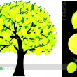 Royalty-Free Stock Vector Image: Illustration of a cartoon lemon tree isolated on white background