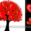 Illustration of a tree with love hearts useful for several concepts — Stock Vector #7407065