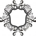 Blank emblem with vintage style design elements, use for logo, frame — Stock Vector