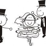 First dance wedding cartoon — Stock Vector