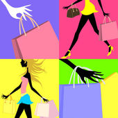 Shopping related vector illustration — Stock Vector