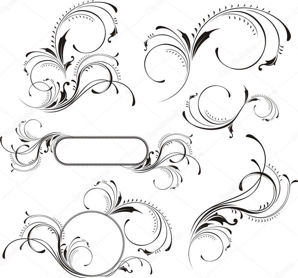Page decoration set stock vector hayaship 7407277 for Pagina de decoracion