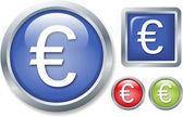 Przycisk symbol euro — Zdjęcie stockowe