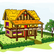 Stock Vector: Village house