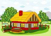 Village house — Stock Vector