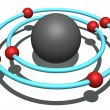 Stock Photo: Carbon atom