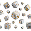 Playing dices — Stock Photo
