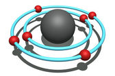 Carbon atom — Stock Photo