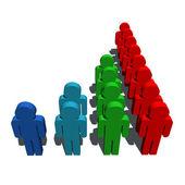 人口統計学人口のシンボル — ストック写真