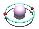 Helium atom — Stock Photo