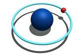 Hydrogen atom — Stock Photo