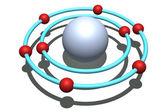 氧原子 — 图库照片