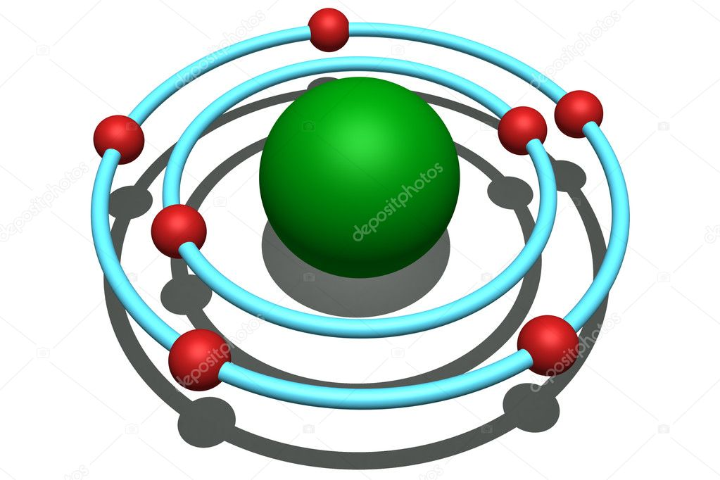 how to make a 3d model of oxygen atom
