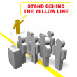 Stand behind the yellow line — Stock Photo #7434340
