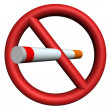 Stock Photo: Stop smoking sign