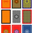 Playing cards back side 60x90 mm — Vector de stock #7460538