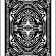 Playing card back side 60x90 mm - Stock Vector