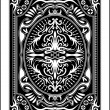 Playing card back side 60x90 mm — Stockvectorbeeld