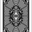 playing card back side 60x90 mm — Stock Vector