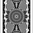 Playing card back side 60x90 mm — Imagen vectorial