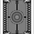 Playing card back side 62x90 mm — Stock Vector