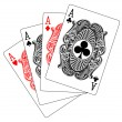 Four aces poker — Stock Vector #7463310