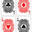 Four aces — Stock Vector #7463350