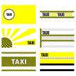 Taxi business cards 90x50 mm — Stock Vector