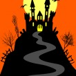 Royalty-Free Stock Imagen vectorial: Castle on the hill