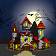 Old castle in the night — Stock Vector